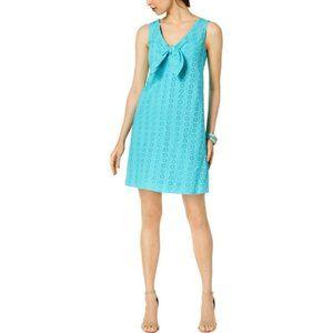 NWT Pappagallo Sleeveless Eyelet Dress Ocean #3483
